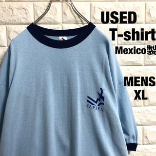 アメリカ古着 企業ロゴ リンガーTシャツ メンズXLサイズ(Tシャツ/カットソー(半袖/袖なし))