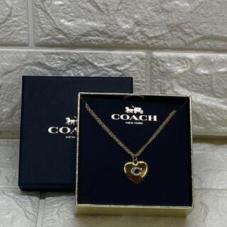 コーチ(COACH)の【新品・未使用】コーチ COACH レディース ハートロゴ ネックレス(ネックレス)