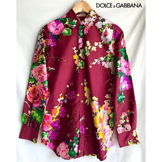 DOLCE&GABBANA - 極上 ドルチェ&ガッパーナ 花柄シャツ ボタニカル 38 ドルガバ