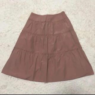 ハロッズ(Harrods)のハロッズ スカート ティアード フレア ピンク サイズ1(ひざ丈スカート)