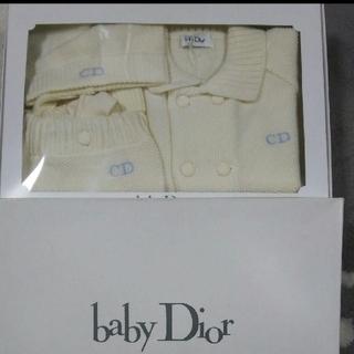 baby Dior - baby Dior ベビーディオール ニット アウター パンツ 帽子 3点セット