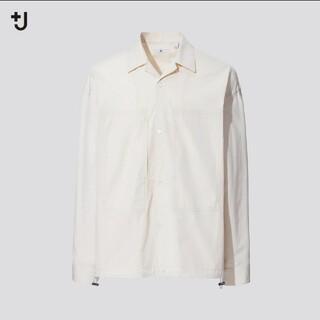 ユニクロ(UNIQLO)のUNIQLO +J スーピマコットンオーバーサイズシャツブルゾン(長袖)(ブルゾン)