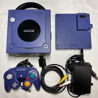 ニンテンドーゲームキューブ(ニンテンドーゲームキューブ)のゲームキューブ GC バイオレット ゲームボーイプレイヤーセット 管理702(家庭用ゲーム機本体)