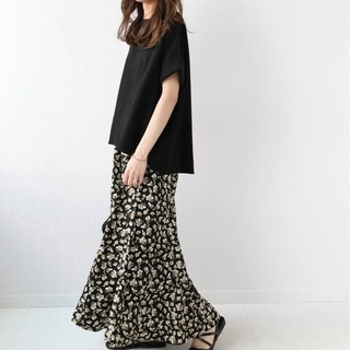 JOURNAL STANDARD - ブラックフローラルマーメイドスカート
