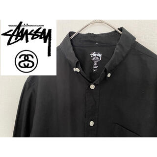 ステューシー(STUSSY)の希少 stussy ステューシー BD長袖シャツ 紫刺繍ワンポイント(シャツ)
