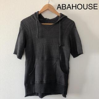 アバハウス(ABAHOUSE)のABAHOUSE  フード付き半袖トップス(Tシャツ/カットソー(半袖/袖なし))