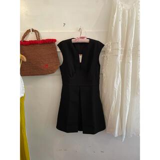 ミュウミュウ(miumiu)のmiumiu black dress.(ひざ丈ワンピース)
