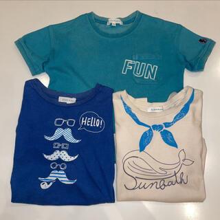 サンカンシオン(3can4on)の100㎝ 半袖Tシャツ 3枚セット 3can4on サンカンシオン(Tシャツ/カットソー)