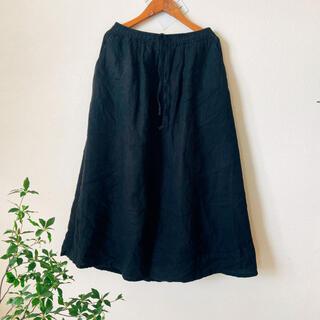 ムジルシリョウヒン(MUJI (無印良品))の無印 麻スカート(ロングスカート)