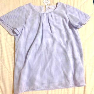 アオヤマ(青山)の洋服の青山 nline precious 半袖シフォンブラウス 9号 パープル(シャツ/ブラウス(半袖/袖なし))