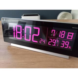 SEIKO - DL207S   SEIKO 温湿度計付き 電波時計