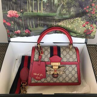 Gucci - 極美品グッチクイーンマーガレット GG トップハンドルバッグ