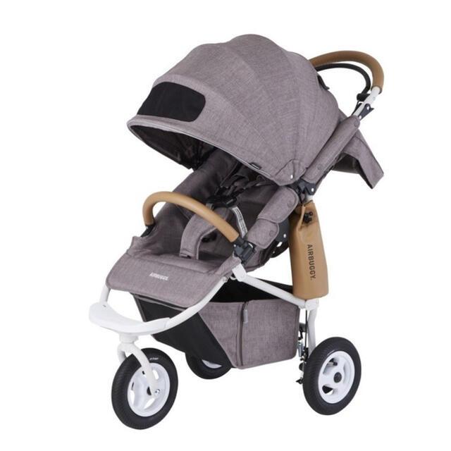 AIRBUGGY(エアバギー)のエアバギー COCO BRAKE EX FROM BIRTH (アースブラウン) キッズ/ベビー/マタニティの外出/移動用品(ベビーカー/バギー)の商品写真