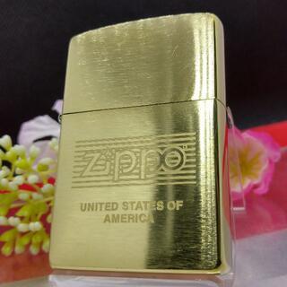 ZIPPO - №520 ZIPPO ボーダー 真鍮無垢 ジッポー 2007年3月 【C 07】