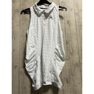 ルコックスポルティフ(le coq sportif)の新品 ルコック 四大大会コレクション  白 ポロシャツ ノースリーブ Oサイズ(ウェア)