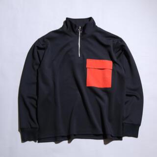 MBハーフジップ カットソー オレンジ(Tシャツ/カットソー(七分/長袖))