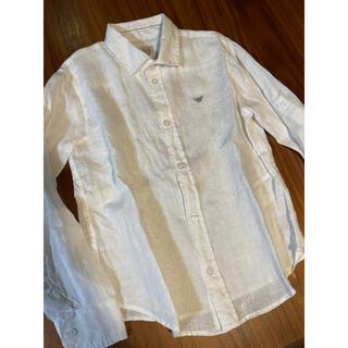 アルマーニ ジュニア(ARMANI JUNIOR)のアルマーニジュニア 長袖白シャツ7A 124センチ(ブラウス)