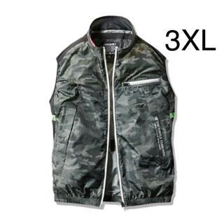 バートル(BURTLE)の新品 バートル 空調服 ベスト 3XL  服のみ AC1034 アーミーグリーン(ベスト)