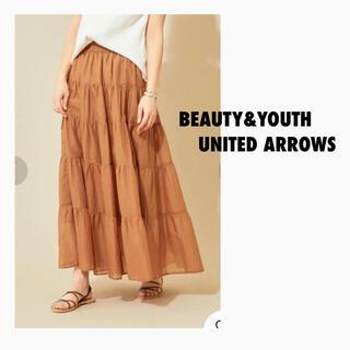 ビューティアンドユースユナイテッドアローズ(BEAUTY&YOUTH UNITED ARROWS)のBY∴ ローンティアードマキシスカート(ロングスカート)