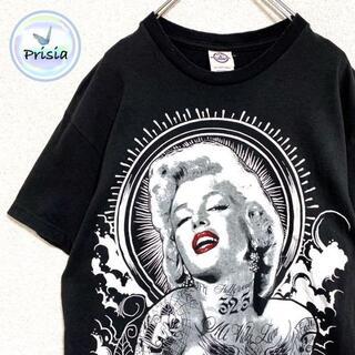 デルタ(DELTA)の【メキシコ製】古着 Tシャツ マリリンモンロー デルタ M 黒 ブラック(Tシャツ/カットソー(半袖/袖なし))
