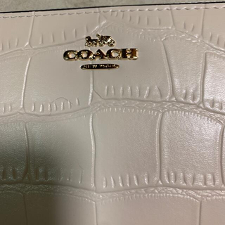 COACH - 新品未使用 メンズ レディース コーチ 長財布 クロコ型押し ホワイト系
