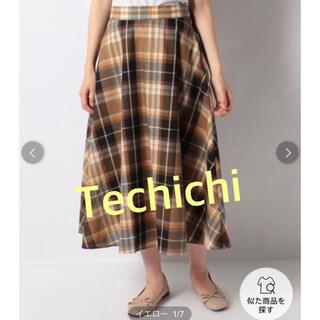 テチチ(Techichi)のセットアップ対応 Techichi テチチ マドラスチェックフレアスカート (ロングスカート)