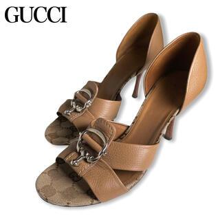グッチ(Gucci)のGUCCI★グッチ★GGキャンバス ホースビット ピンヒールサンダル(サンダル)