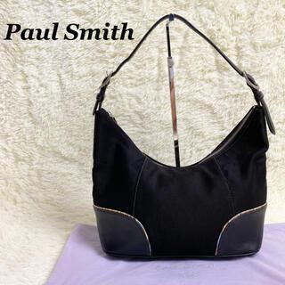 Paul Smith - 【良品】Paul Smith ハンドバッグ マルチストライプ レザー ブラック