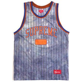 シュプリーム(Supreme)の青 M Supreme Dyed Basketball Jersey Blue (タンクトップ)