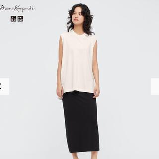 UNIQLO - マメクロゴウチ ユニクロ M エアリズムコットンスリットスカート