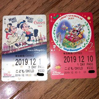 ディズニー(Disney)のディズニーリゾートライン フリーきっぷ 2019ディズニークリスマス 使用不可(ゲームキャラクター)