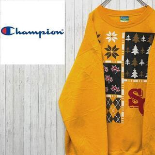 チャンピオン(Champion)のチャンピオン トレーナー スウェット マスタードイエロー ビッグプリント L(スウェット)