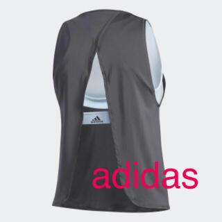 アディダス(adidas)の新品 アディダス インナーブラ付き タンクトップ スポーツブラ S(ブラ)