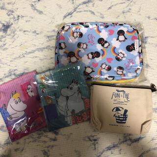 スヌーピー(SNOOPY)の新品 ピングー スヌーピー  ムーミン ポーチ 巾着(ポーチ)