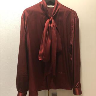 Saint Laurent - サンローラン 20ss シルク リボンシャツ