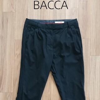 トゥモローランド(TOMORROWLAND)のウールシルク素材 BACCA パンツ黒(クロップドパンツ)