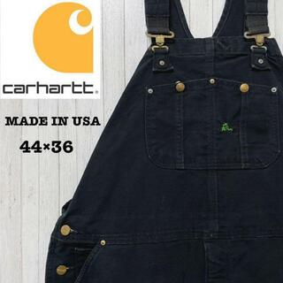 カーハート(carhartt)のカーハート USA製 ダック地 オーバーオール 黒 ビッグサイズ 44/36(サロペット/オーバーオール)