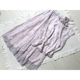Noela - 【Noela】小花ブーケ刺繍ブラウス&ロングスカート