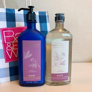バスアンドボディーワークス(Bath & Body Works)の【新品】バスアンドボディワークス ローズラベンダー 2点セット(日用品/生活雑貨)