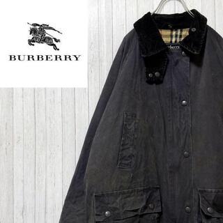 バーバリー(BURBERRY)のバーバリー 英国製 オイルドジャケット コート ヴィンテージ チェックライナー(ブルゾン)