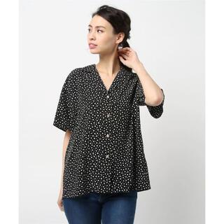 デミルクスビームス(Demi-Luxe BEAMS)のVONDEL ドット柄シャツ(シャツ/ブラウス(半袖/袖なし))
