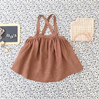 キャラメルベビー&チャイルド(Caramel baby&child )のsoor ploom eroise pinafore moth 4/5Y(スカート)