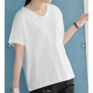 coen - coen UVカット機能付きUSAコットンVネックTシャツ