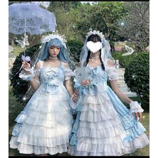 ヨーロッパ 西欧 森ガール ロリータ 姫 花嫁ドレスアップ(衣装一式)