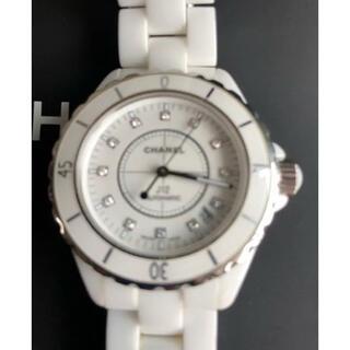 シャネル(CHANEL)の激安!美品 正規品 CHANEL J12 38mm 12Pダイヤ H1629(腕時計(アナログ))