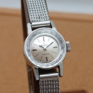 オメガ(OMEGA)の【オーバーホール済み】オメガ レディース デビル カットガラス ブレス付 超美品(腕時計)
