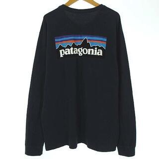 パタゴニア(patagonia)のパタゴニア 38518 ロングスリーブ P-6 ロゴ Tシャツ 紺 M(Tシャツ/カットソー(七分/長袖))