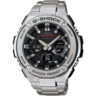CASIO - カシオ G-SHOCK メタルバンド 電波ソーラー 腕時計 シルバー×ブラック