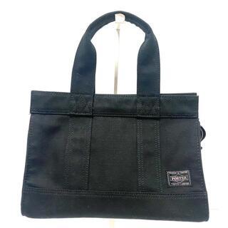 ポーター(PORTER)のポーター ハンドバッグ - 黒 キャンバス(ハンドバッグ)