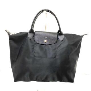 ロンシャン(LONGCHAMP)のロンシャン ハンドバッグ美品  黒(ハンドバッグ)